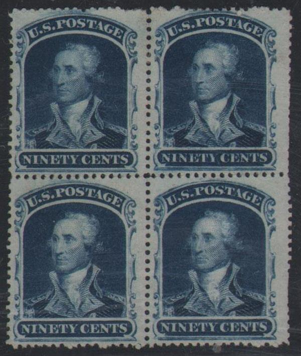 #39, Mint, Unused Block of 4, VF+, Super Rich Color!