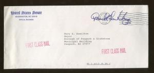 1989 Newark New Jersey Cover United States Senator Frank Lautenberg Signed