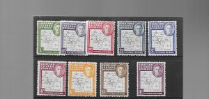 Falkland Islands  Dependencies 1946 Thin Map Set u/mint