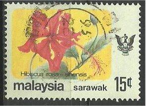 SARAWAK, 1979, used 15c, Flower Scott 252