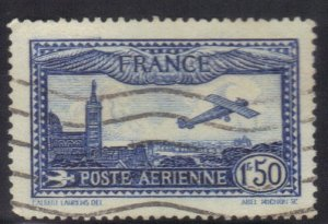 FRANCE SCOTT# C6  USED  1.50fr 1930-31 AIRMAIL     SEE SCAN