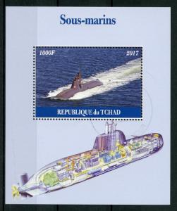 Chad 2017 CTO Submarines 1v M/S Sous-marins Boats Ships Stamps
