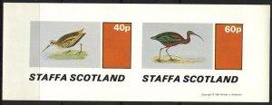 {ST243} Staffa Scotland Birds (7) Sh. of 2 Imperf. MNH Local Cinderella !!