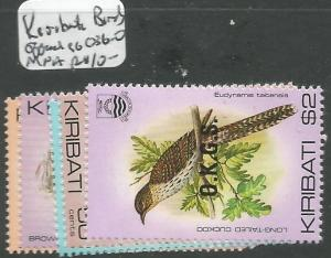 Kiribati Birds Official SG O36-40 MNH (8cir)