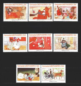 Saint Vincent and the Grenadines. 1988. 1018-27 from the series. Disney Carto...