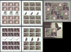 KS 2012 TONGA FAUNA BIRDS OWLS 1SH+1KB+12SET !!! MICHEL 1870‬ EURO MNH