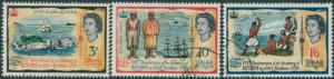 Fiji 1966 SG351-353 Discovery of Rotuma QEII set FU