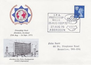 GBP099) GB Police 1973, Post Office cancellation and cover for Friendship Week