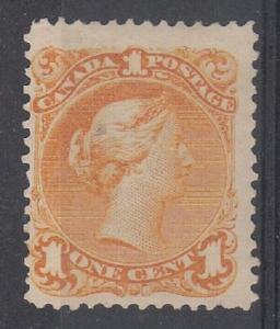 Canada Scott 23 Mint hinged (partial glazed gum) - Catalog Value $1500.00