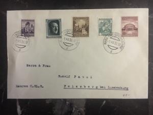 1938 Liechtenstein Austria Germany Cover to Lundenburg Germany Multi Franking