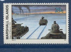 Marshall Islands 1991 World War 2 WW II Scott 285 Siege of Moscow W24 NH
