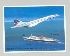 St Vincent #1182 Cruise Ships, Concorde 1v S/S Imperf Proof