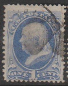 U.S. Scott #145 Franklin Stamp - Used Single