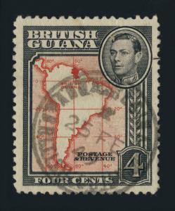 GUYANA / BRITISH GUIANA - 1948 - ANNA REGINA SINGLE CIRCLE DS ON SG310