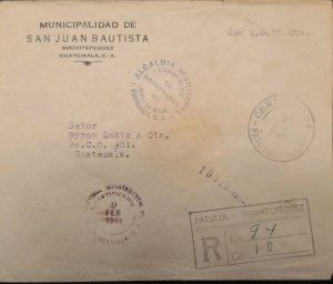 O) 1949 GUATEMALA, FRANQUICIA, MUNICIPAL MAYOR AND COURT OF PEACE SAN JUAN BAU