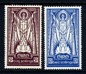 IRELAND 1940-68 5s. & 10s. Highest Values Chalk-Surfaced SG 124c & SG 125b MINT