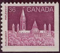 Canada - 1987 36c Deep Lilac Rose Parliament VF-NH #948