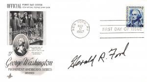 U.S., Scott #1283B F.D.C., Autographed by Gerald R. Ford, 38th U.S. President