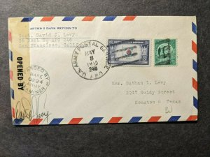 APO 246 GUAM, MARIANAS Islands 1945 Censored WWII Air Force Cover 26th BOMB Sqdn