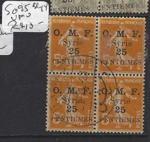 SYRIA (PP2305B)  ON FRANCE   25C/5C  SG 95       BL OF 4   VFU