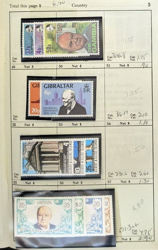 EDW1949SELL : G.B. OMNIBUS Collection of 22 Different VF, Mint NH Complete sets.