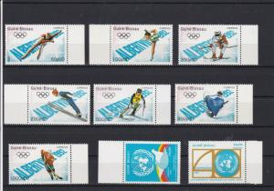 Republic of Guine Olympic Winter Sports & U.N. Mint Never Hinged Stamps R18513