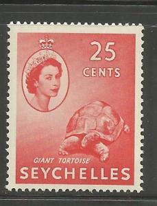 SEYCHELLES  180  MNH,  GIANT TORTOISE W/ PORTRAIT OF QUEEN ELIZABETH II