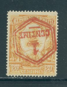 Haiti 108  MH inverted surcharge cgs