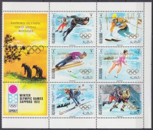 1971 Ras Al Khaimah 534-39VB+Tab 1972 Olympic Games in Sapporo / overprint 20,00