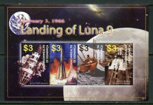 DOMINICA   LUNA 9 LANDS ON THE MOON  SHEET MINT NH