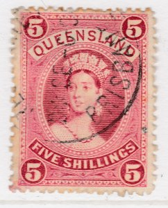 British Colony Australia Queensland 1882 5s Thick Paper Used Stamp A22P19F8964
