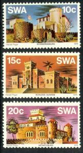 SOUTH WEST AFRICA 1976 CASTLES Set Scott Nos. 388-390 MNH