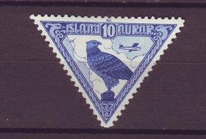 J25510 JLstamps 1930 iceland mh #c3 falcon bird