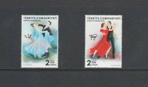 TURKEY :#02 NEW ISSUE /**EUROPA-DANCING ** /  SET OF  2  / MNH