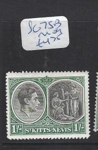 ST KITTS NEVIS  (PP2806B)  KGVI  1/-  SG 75B   MOG