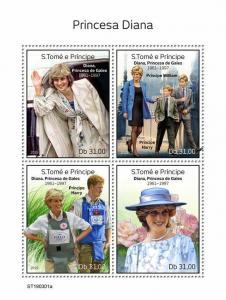 Z08 ST190301a Sao Tome and Principe 2019 Princess Diana MNH ** Postfrisch