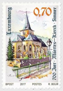 H01 Luxembourg 2019 700 Years Church of Simmer  MNH Postfrisch