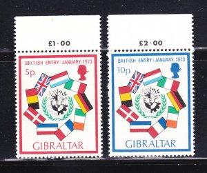 Gibraltar 294-295 Set MNH Flags