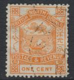 North Borneo  SG 37 Orange  Used please see scan & details
