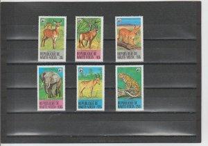 Burkina Faso  Scott#  506-511  MNH  (1979 Protected Animals)