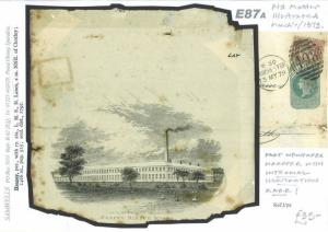GB ADVERT STATIONERY 1879 Heapey Works Manchester Illustrated Wrapper CoverE87a
