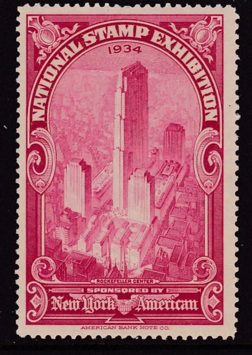 U.S. 1934 American Bank Note Company Red National Stamp Exhibit VF/NH