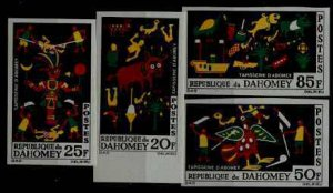 Dahomey 198-201 MNH imperf. Tapestry