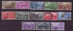 J22631 Jlstamps 1948 italy set used #495-506,e26 war scenes, check scans perfs