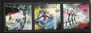 LIBYA, 1275, MNH,STRIP OF 3, EVACUATION DAY