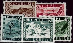 Austria #477-481 Mint VF hr SC$7.50....Grab a Bargain!