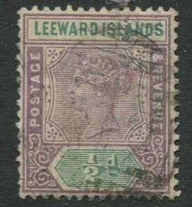 Leeward Is. - Scott 1 - QV - 1890 - Used -  Single - 1/2p Stamp