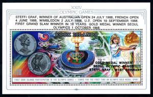 [92150] Cook Islands 1988 Olympic Games Seoul Tennis OVP Sheet MNH