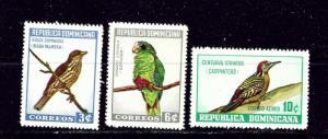 Dominican Republic 596-98 and C134 MH 1964 Birds