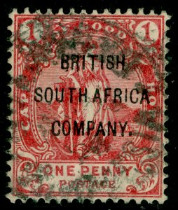 RHODESIA SG59, 1d Rose-Red, USED. Cat £28.